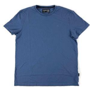 Calvin Klein Mens Tshirt Liquid Touch Blue Small